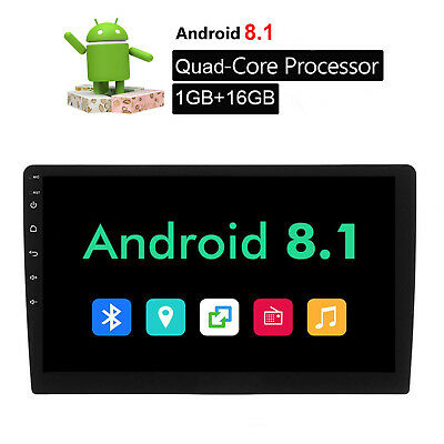 """10.1"""" GPS Navigation Android 8.1Car Radio Stereo Quad Core Double 2DIN USB MP3"""