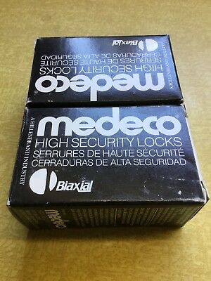 2 New Medeco Security Padlock Cylinder Biaxial, High Security 2 Keys 50w000-26D4