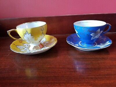 Vintage Tea Cups and Saucers - Lot of 2 - All from Japan