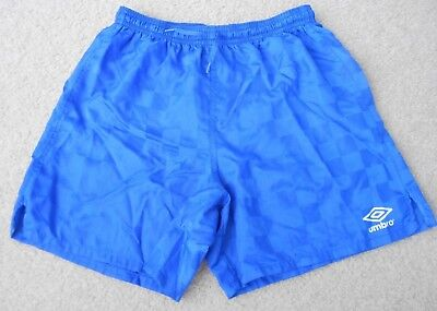 UMBRO YOUTH Checkered Shorts Royal Blue Size L (Boys/Girls)