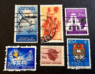 South Africa Suid-Africa - 6 nice old used stamps / 05