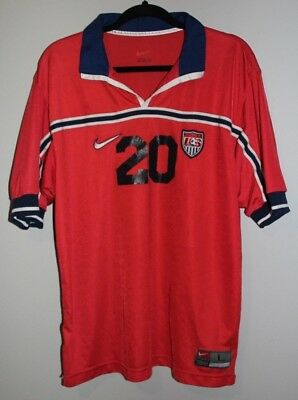 4e430faa1 Nike USMNT Soccer Jersey Size Large  20 Brian McBride 1998 World Cup RARE