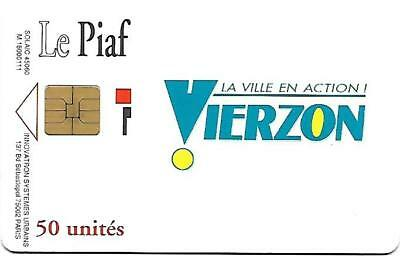 @+ Carte Le Piaf - Vierzon - Puce SO3 - 50 Units (verso blanc)