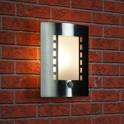 Ranex Messina Outdoor IP44 Stainless Steel Wall Light With Pir Motion Sensor
