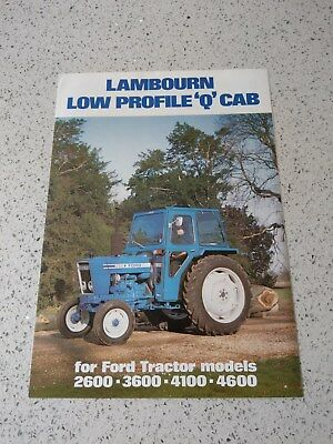 Ford 2600 3600 4100 4600 tractor Lambourn cab brochure Ford New Holland
