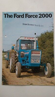 Ford Force 2000 tractor brochure Ford New Holland Genuine
