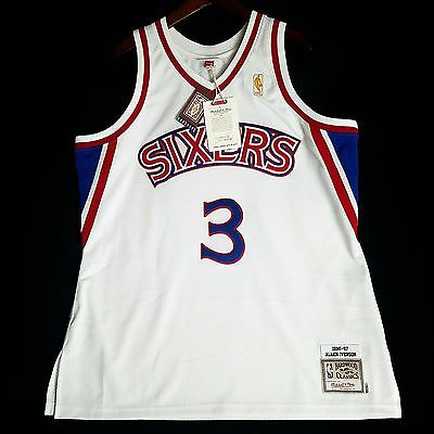 picked up 53bd8 c17f0 100% AUTHENTIC MITCHELL & Ness Allen Iverson Sixers Jersey Men's Size 56 3XL