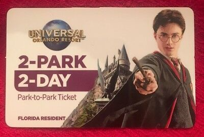 Universal Studios Florida Harry Potter Hogwarts Gift Card 2017 Collectible Only