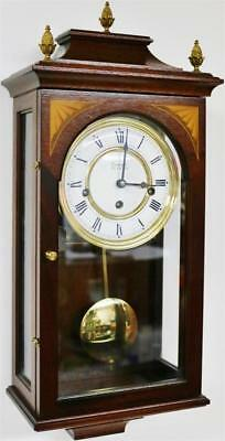 Vintage Small Comitti Wall Clock 8 Day Westminster Chime Musical Wall Clock