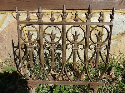 Antique Architectural Salvage Cast Iron Fence Section  Gothic Heavy Ornate #5