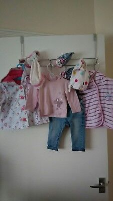 baby girls full outfit tops,jeans,jacket,hats&pram shoes Next,Zara 3-6 months