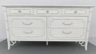 Vintage 1960 Thomasville Allegro Chinese Chippendale Dresser  Bamboo