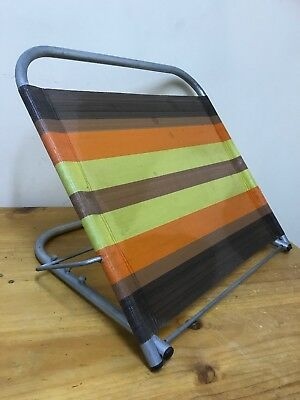 Vintage Retro Beach Chair Stool Camping Car Show Muscle Fishing