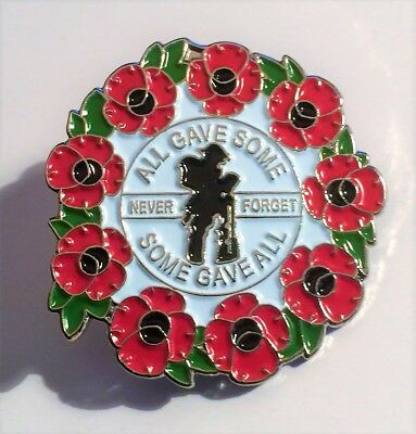 Red Poppy, Never Forget, Brooch, 11 - 11, ANZAC, Badge, Hat Pin, Lapel Pin. #4