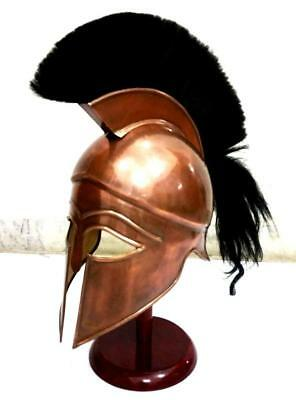 THORINSTRUMENTS (with device) Medieval Greek Spartan Corinthian Helmet with Blac