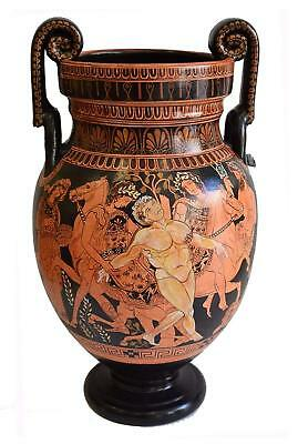 Talos Death - The Bronze Giant - Red Figure Amphora Vase - Protector Of Crete