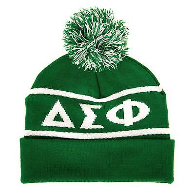 96ce774956c74 Delta Sigma Phi Fraternity Letter Winter Beanie Hat Greek Cold Weather  Winter De