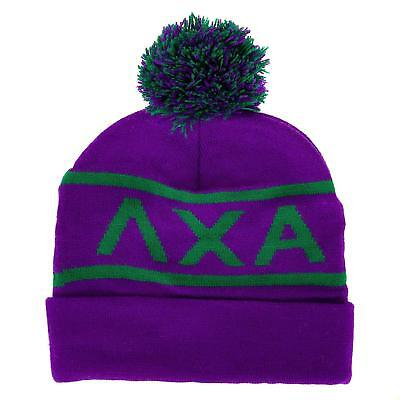 b2bb04d8a4744 Lambda Chi Alpha Fraternity Letter Winter Beanie Hat Greek Cold Weather  Winter -