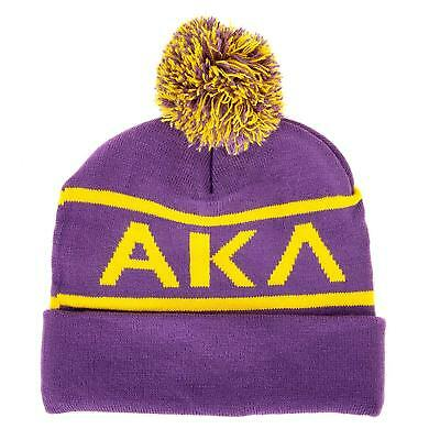 ed34791ba67eb Alpha Kappa Lambda Fraternity Letter Winter Beanie Hat Greek Cold Weather  Winter