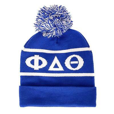 c27b30ec1c3b0 Phi Delta Theta Fraternity Letter Winter Beanie Hat Greek Cold Weather  Winter Ph