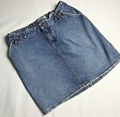Old Navy Maternity Denim Blue Jean Skirt  Womens Size Large Adjustable Waist