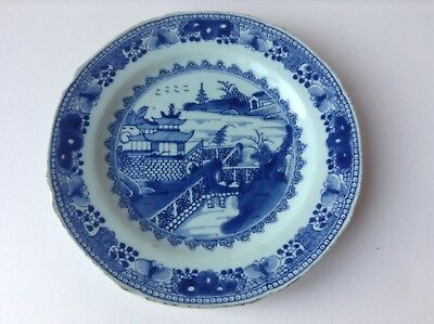 Early Blue & White Chinese Export Plate