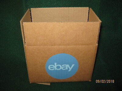 """eBay-LOGO (2) Boxes With Blue 2-Color Logo 6"""" x 4"""" x 4"""" NEW"""