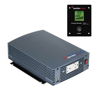 Samlex SSW-2000-12A Pure Sine Wave Power Inverter 2000 Watt with LCD Remote