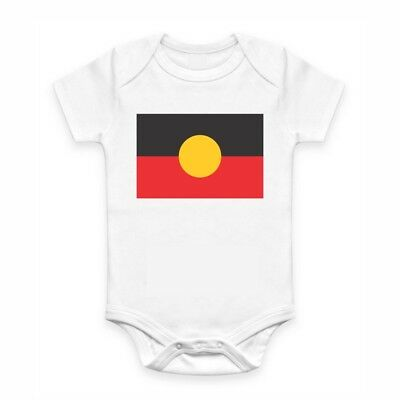 Cute Baby Clothes - Romper with print - Aboriginal Flag