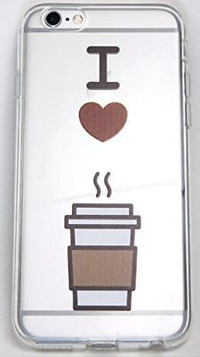 iPhone 7 Case, YogaCase InTrends Silicone Back Protective Cover (I Love Coffee).