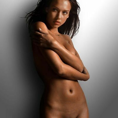 GLOSSY PHOTO PICTURE 8x10 Jessica Alba Nude