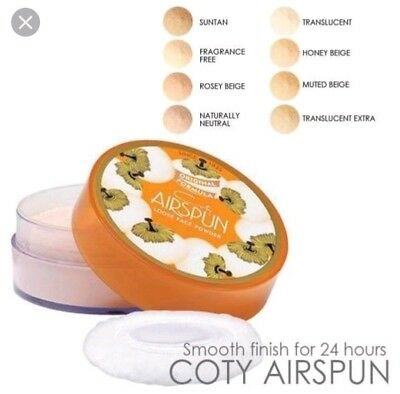 Genuine Coty Face Powder Airspun Translucent Extra Coverage Loose Ultimate