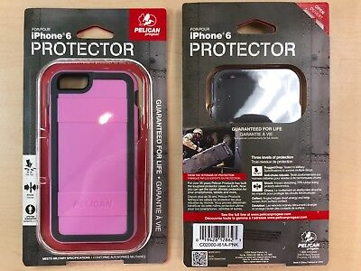 Pelican Protector Series Case for iPhone 6/6s - Retail Packaging - Pink/Gray