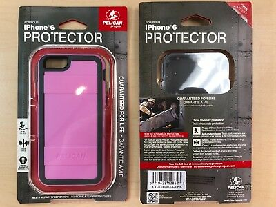 12X Pelican Protector Series Case for iPhone 6/6s - Retail Packaging - Pink/Gray