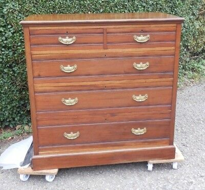 Antique Chest Of Drawers Dating From The Edwardian Era 2 Over 3 Drawers