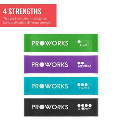 Proworks Resistance Bands | Set Of 4 Heavy Duty Fitness Exercise - Include
