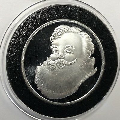 Santa Holiday Coin Merry Christmas 1/2 Troy Oz .999 Fine Silver Round Medal 999