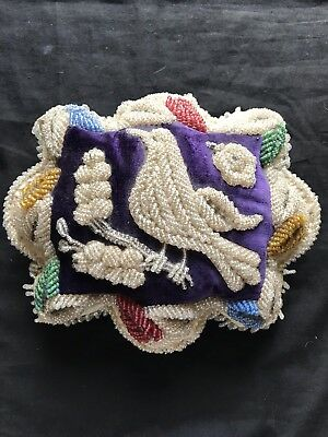 Antique Mohawk Iroquois Native American Beaded Whimsy Pin Cushion Rare Size