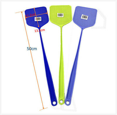 10 PCS Fly Swatter Manual Swat Pest Control Plastic with Long Handle Assorted