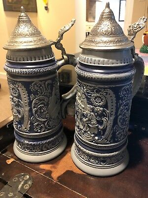 2 Beer Stein, Sept 1971 Replica from Falstaff Museum - Numbered Copies