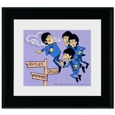 The Beatles  Framed John,  Peter, Paul, and Ringo Limited Edition Sericel COA