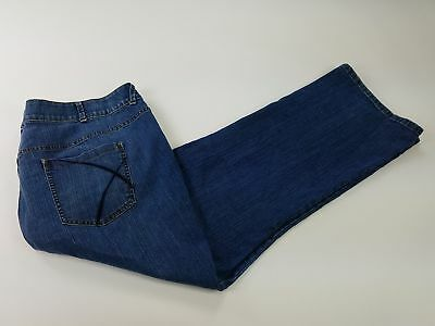 Lane Bryant  Regular 28 Bootcut  Solid Blue Tighter Tummy Tech Jeans
