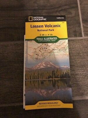 Lassen Volcanic National Park National Geographic Trails Illustrated Topo Map