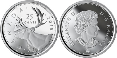 2019 Caribou Quarter 25-Cent Proof Silver Coin Canada Classic from D-Day Set