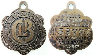 LUDWIG  BAUMANN  &  CO.,  C.  NEW  Attribution number CHARGE COIN  NY-100-LUDA