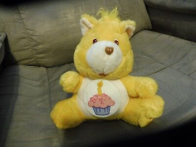 Vintage 1984 CARE BEARS BIRTHDAY BEAR CUPCAKE COIN BANK