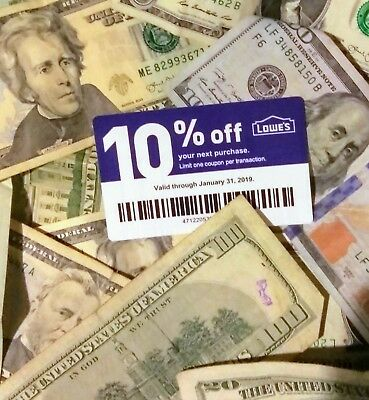 Save $$ Real Lowe's 10% Off Blue Card. Coupon Exp.1/31 Lowes In-store or Online.