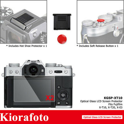 4in1 Shutter Release Button+Glass Screen Protector for Fujifilm X-T10 X-T20 X-E3