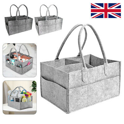 Baby Diaper Caddy Nursery Felt Storage Infant Wipes Bag Nappy Organizer Basket