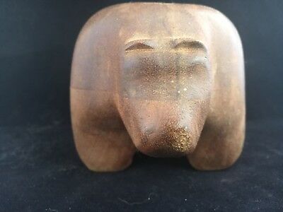 Abstract Hand Carved Wood Wooden Bear Sculpture